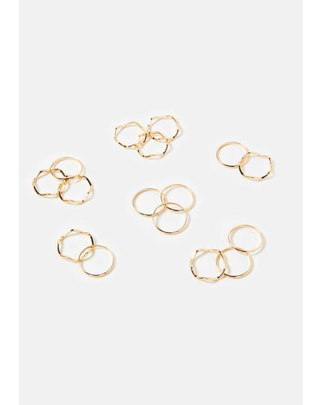 Totally Minimalist Ring Set