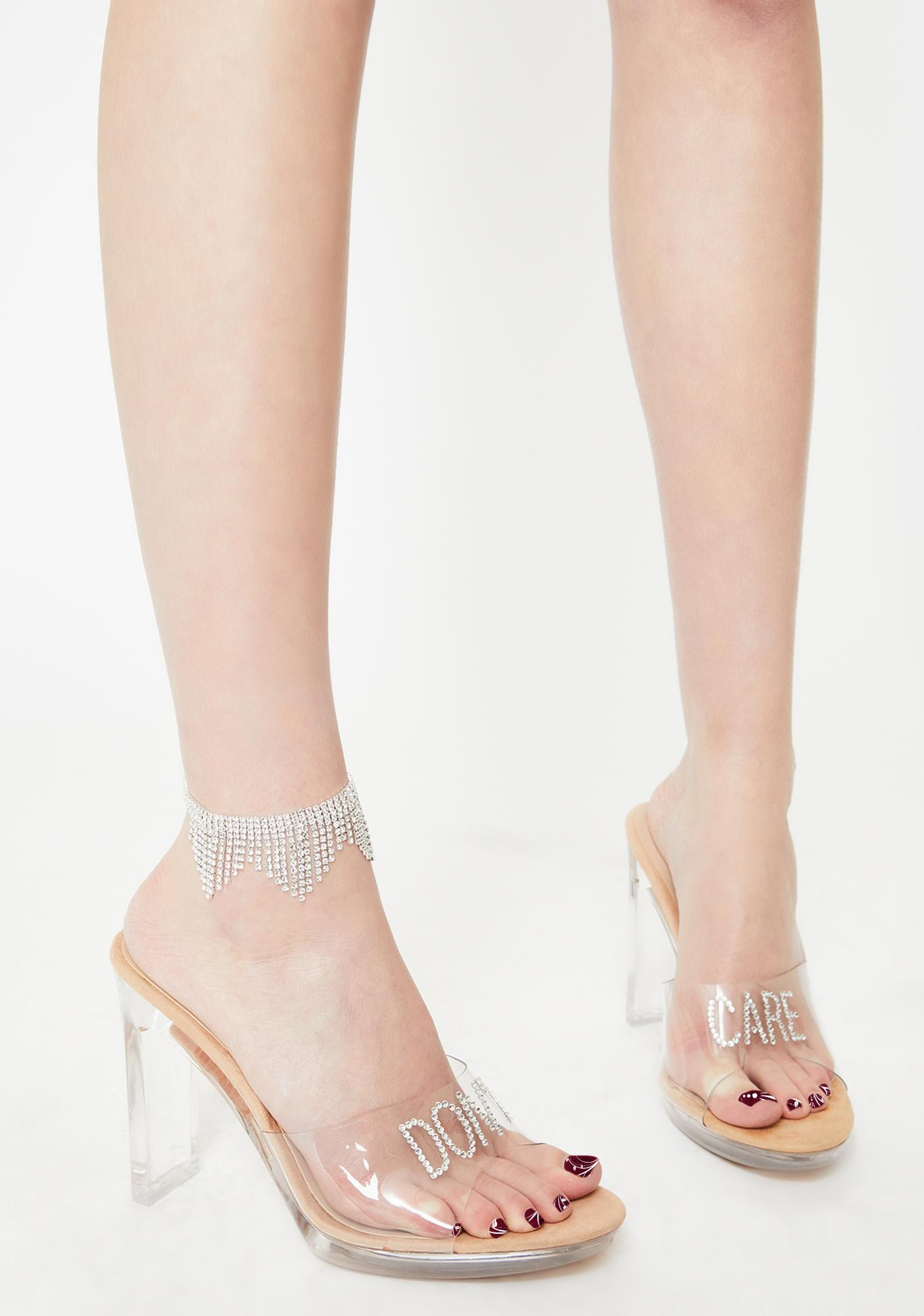 Show Me Off Rhinestone Anklet