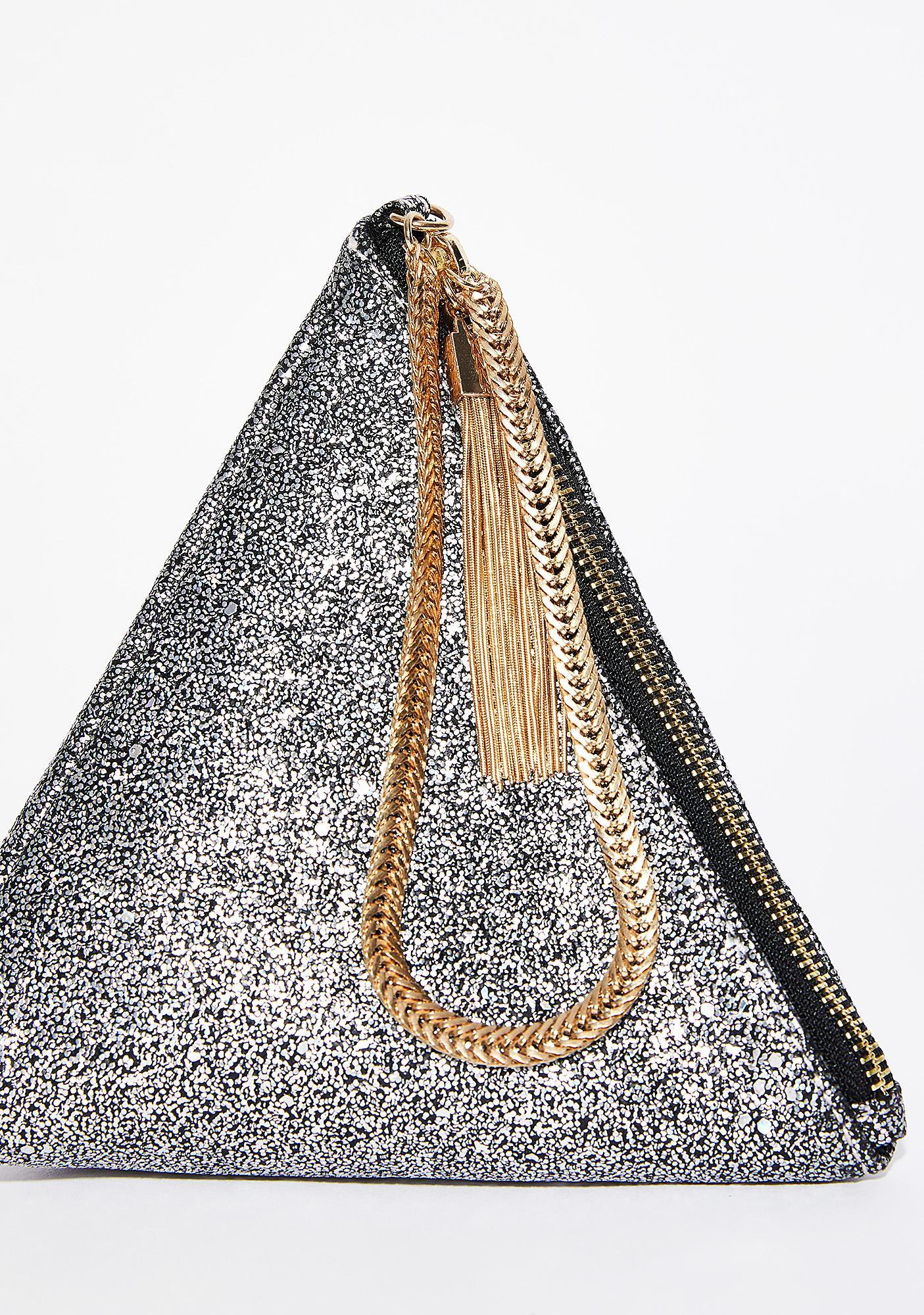 Sparkle N' Shine Pyramid Clutch