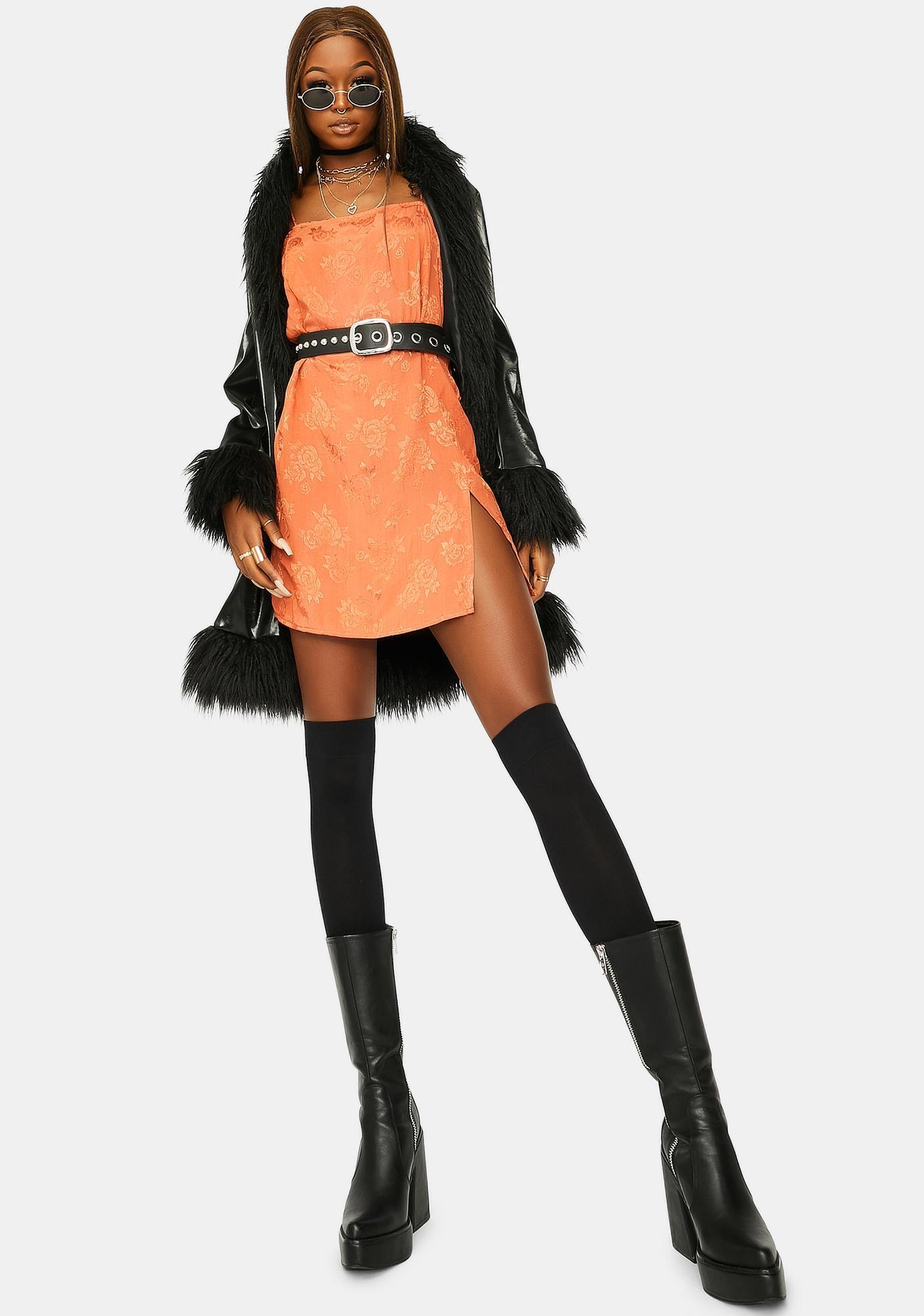 Motel Satin Rose Copper Datista Dress