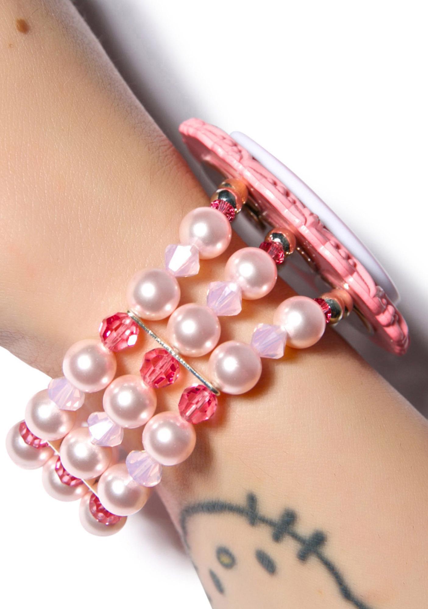 Tarina Tarantino Gothic Lolita Pink Head Cuff Bracelet