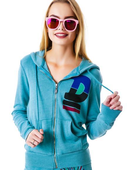 D Logo Zip Up Hoodie