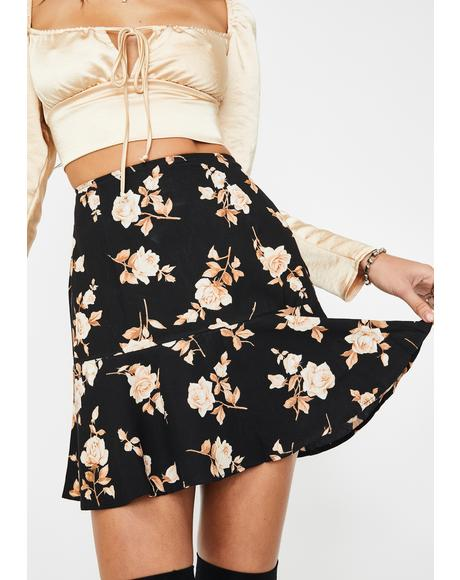 Peach Rose Gaelle Mini Skirt