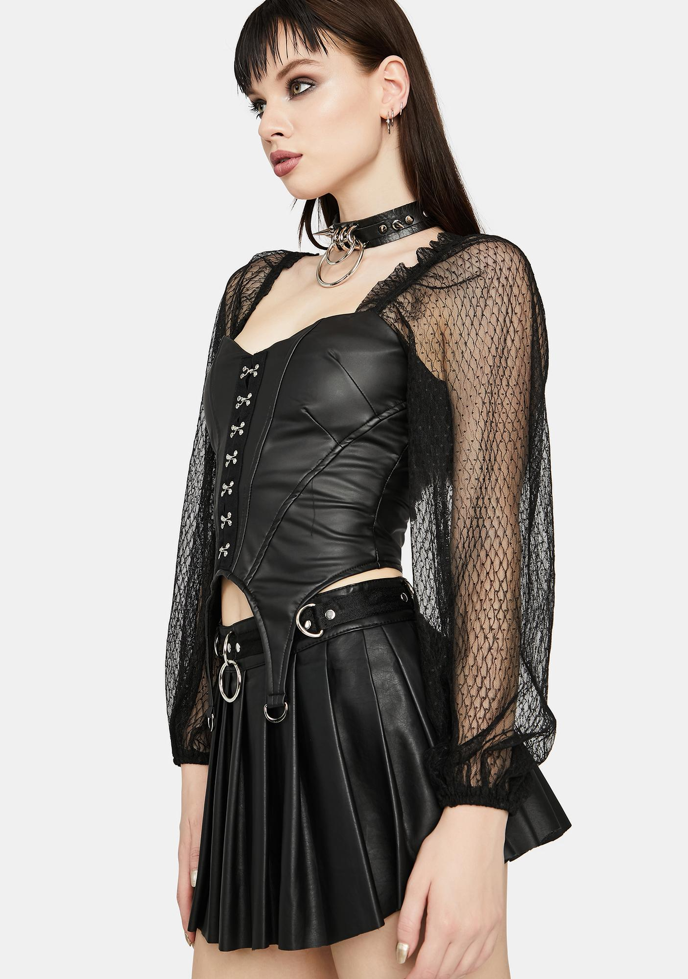 Worst Influence Corset Top