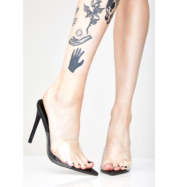 Stripped Down Clear Heels