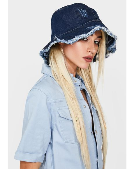 Pushing Limits Denim Bucket Hat