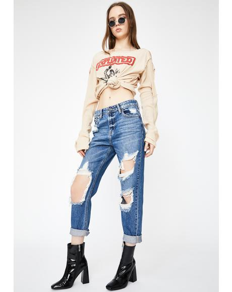 Bailey Distressed Boyfriend Jeans