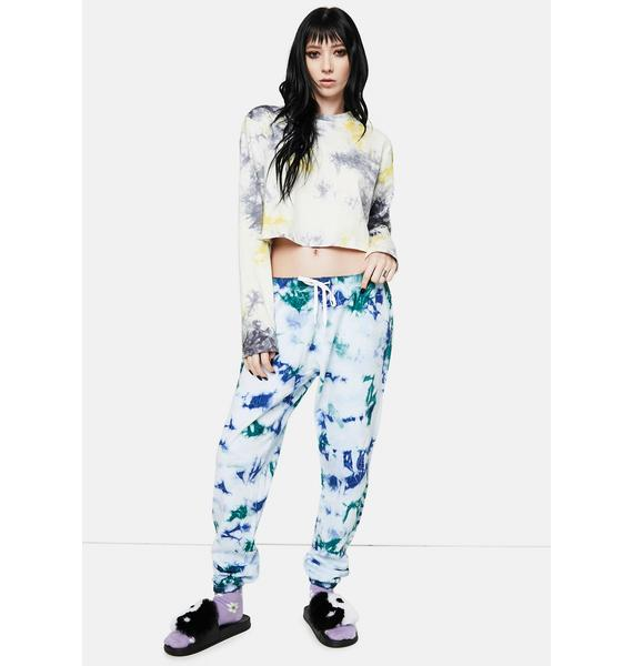 Dickies Girl Washed Green Tie Dye Relaxed Sweatpants