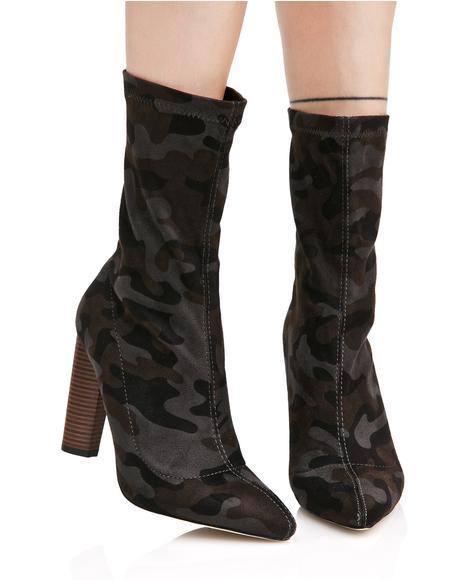 Devon Camo Sock Boots