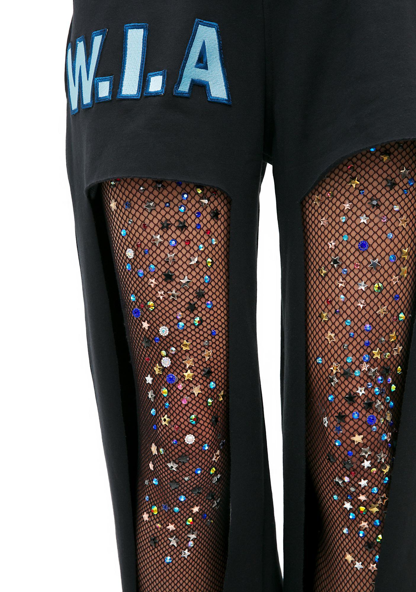 Lirika Matoshi Another Galaxy Handmade Fishnet Stockings