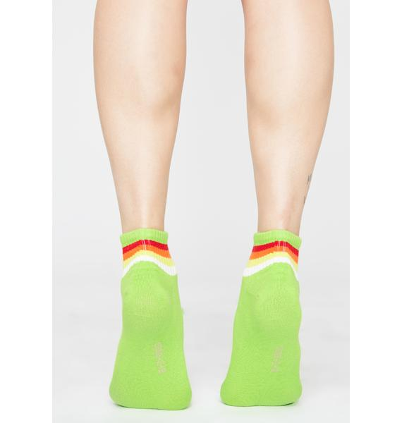 Ganja Ova The Rainbow Ankle Socks