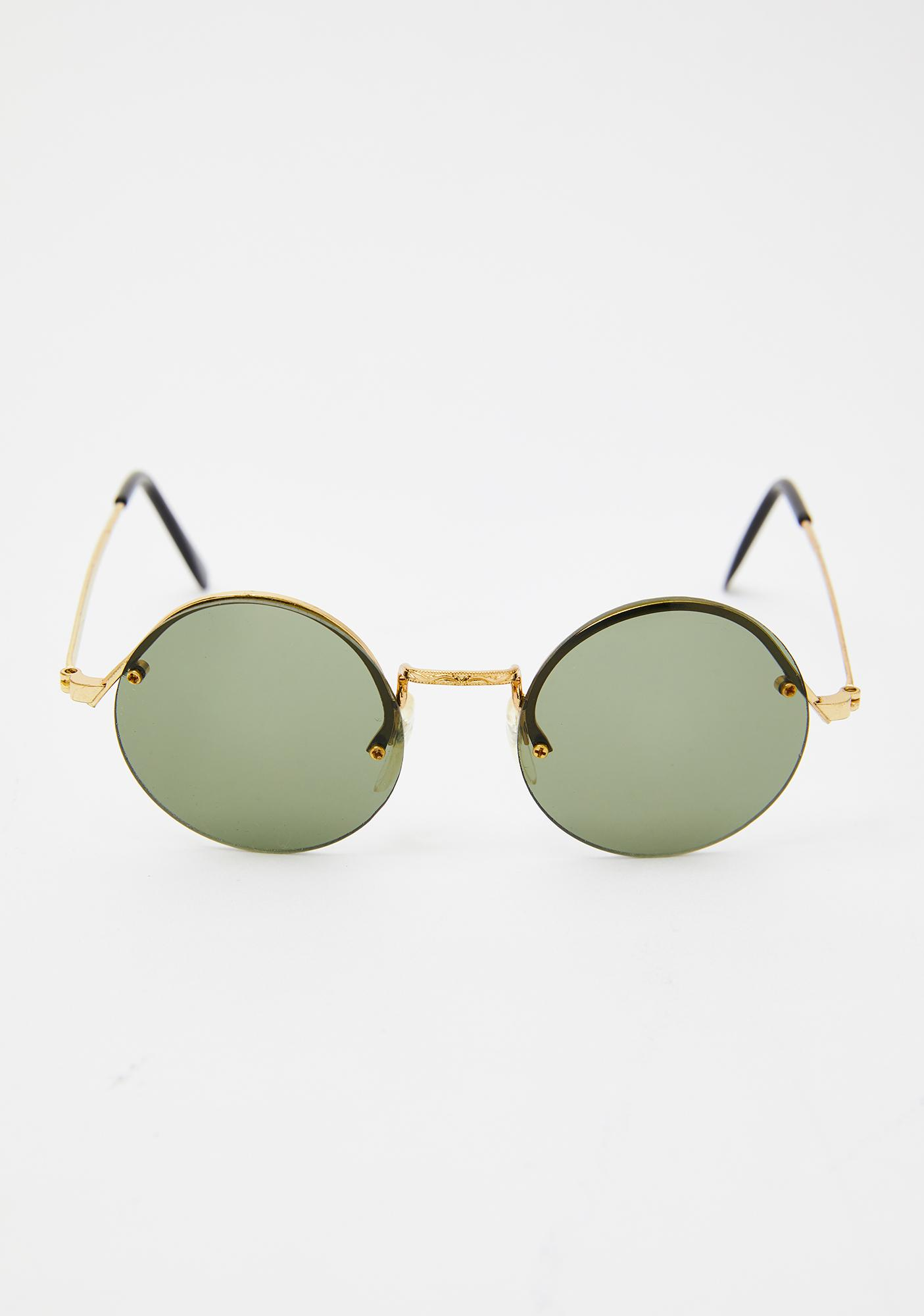 Replay Vintage Sunglasses Green Rounders Sunglasses