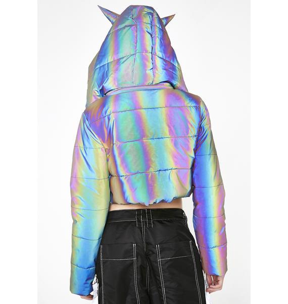Current Mood Night Savage Signalz Reflective Jacket