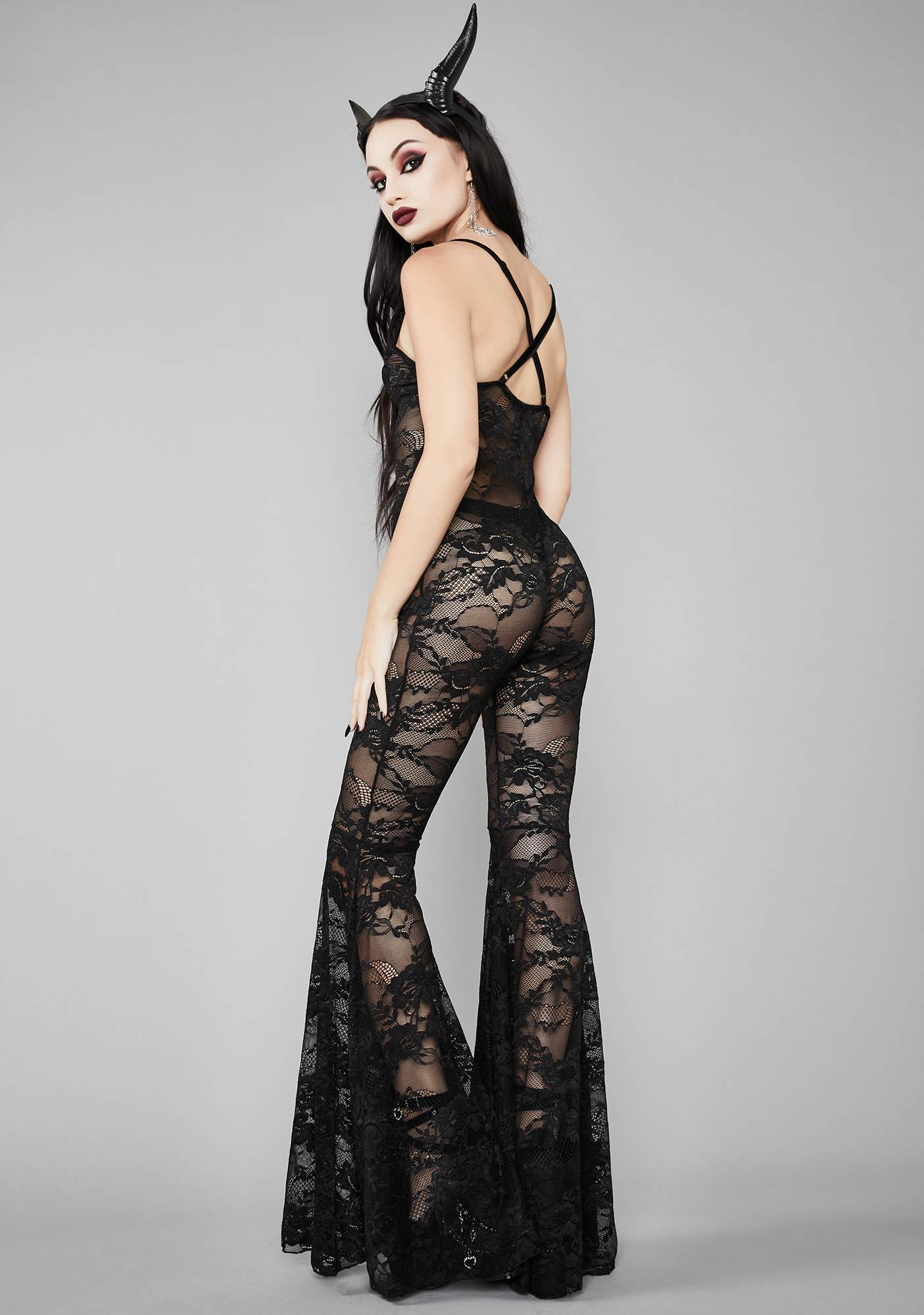 Widow Witching Hour Lace Catsuit