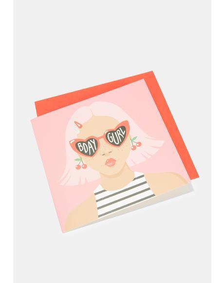 Heart Sunglasses Card