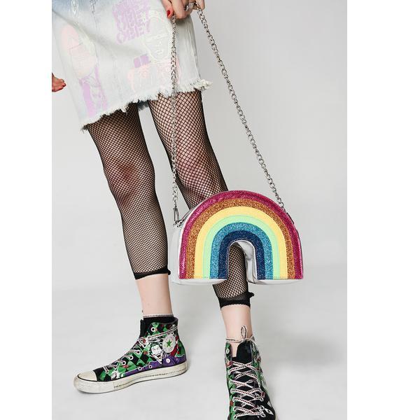 Skinnydip Glitter Rainbow Crossbody Bag