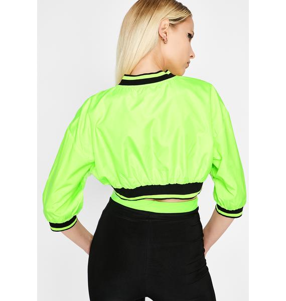 Acid Shut Up N' Drive Cropped Jacket