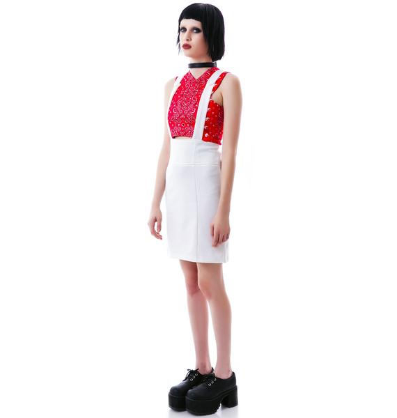 Iggy High Waisted Suspender Skirt