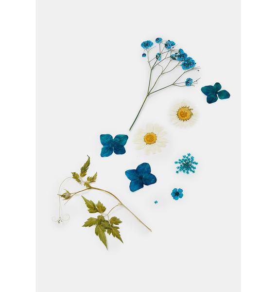 SHRINE Blue Pressed Flower Cosmetic Decals
