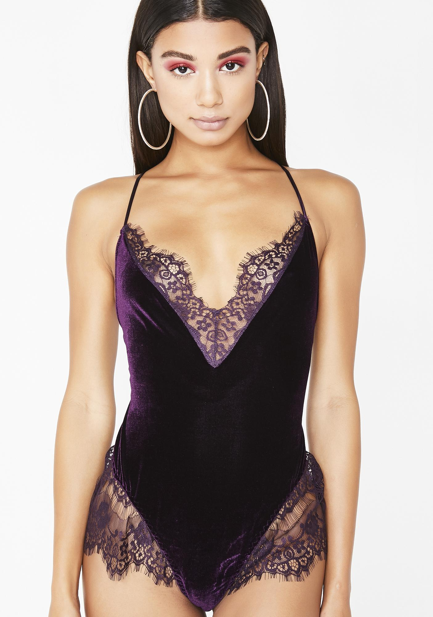 3adc218131 Holiday Stretchy Velvet Lace Teddy