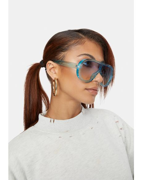 Sky Stars In Our Eyes Oversized Sunglasses