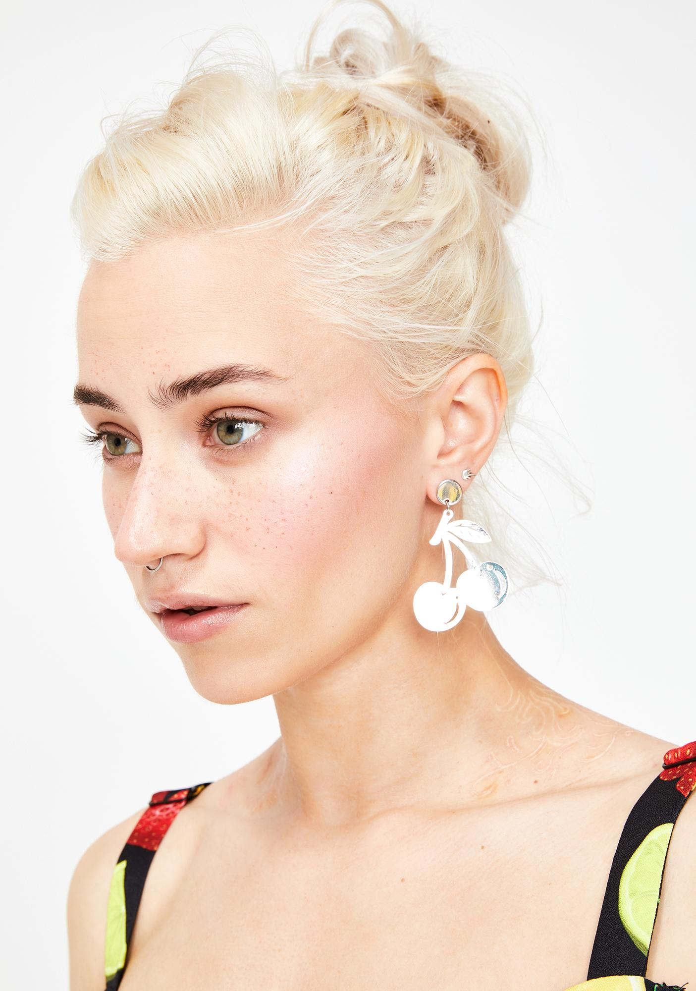 Let Me Grow Cherry Earrings
