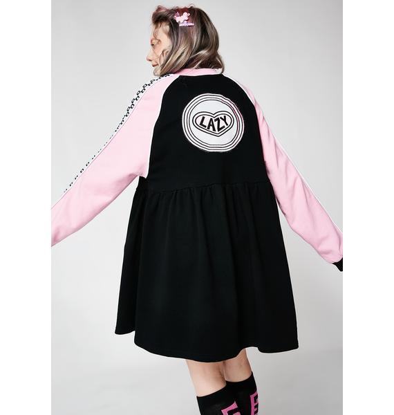 Lazy Oaf Sports Club Zip Sweater Dress