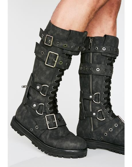 Hour Of Devastation Unisex Combat Boots