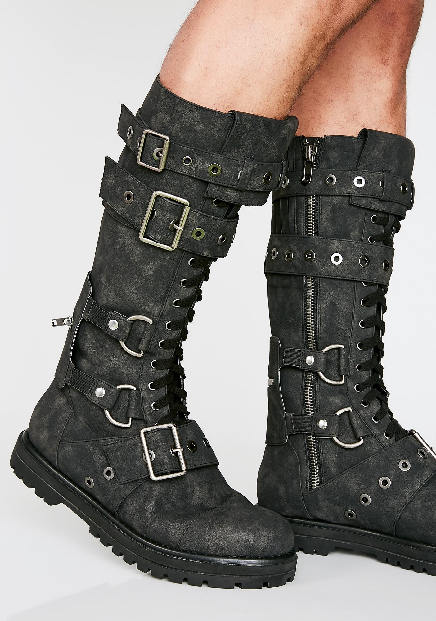Club Exx Hour Of Devastation Unisex Combat Boots