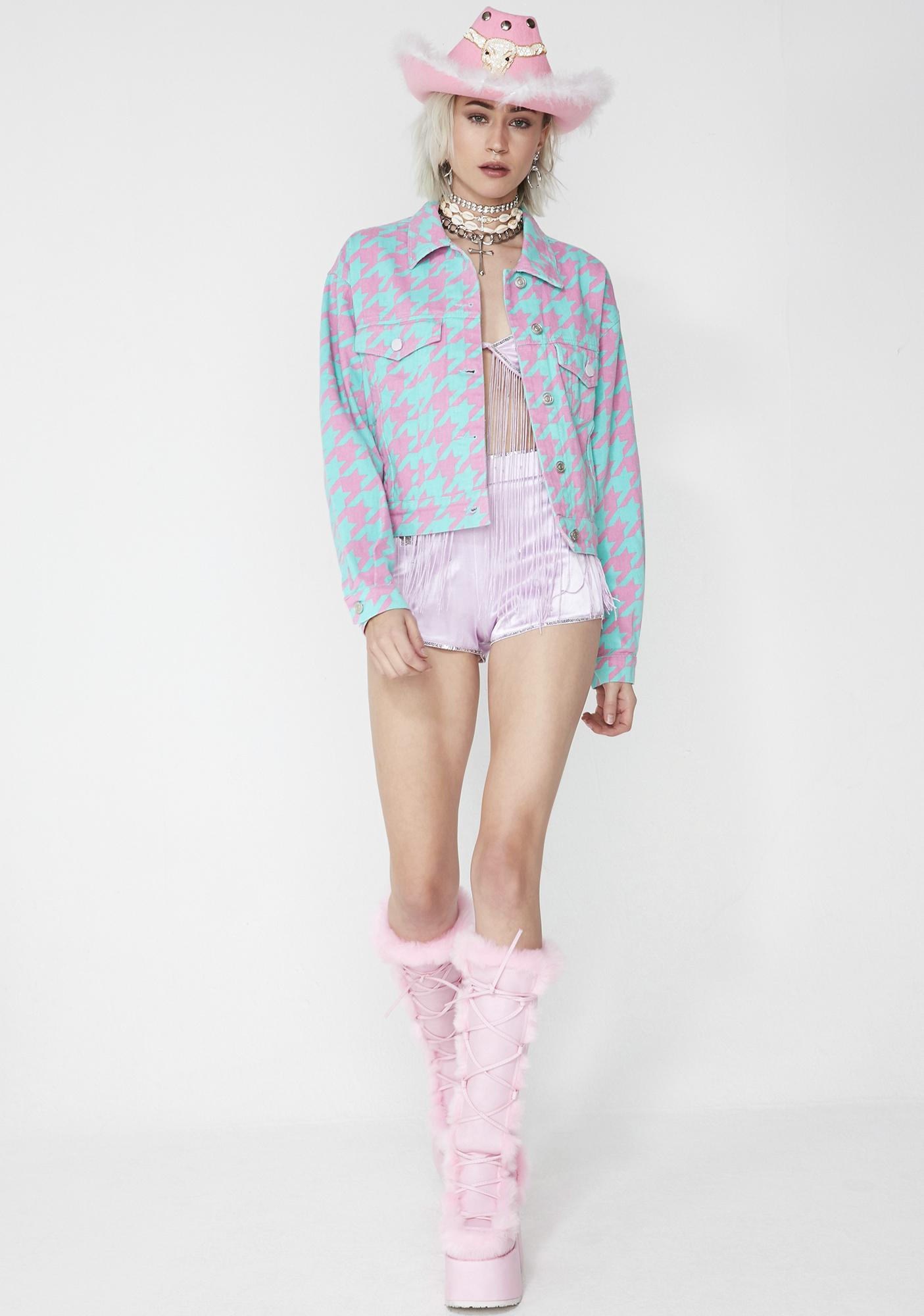 Cotton Candy Ecstasy Houndstooth Jacket