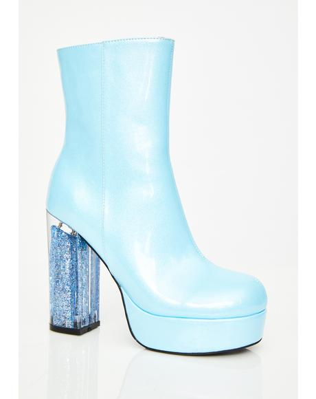 Age Of Aquarius Glitter Boots