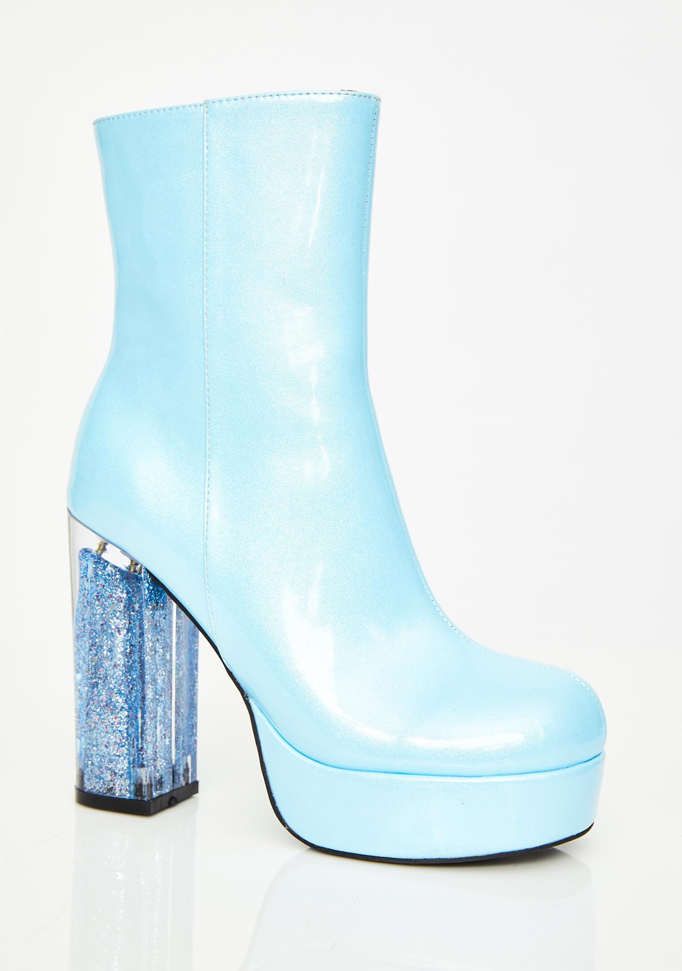HOROSCOPEZ Age Of Aquarius Glitter Boots