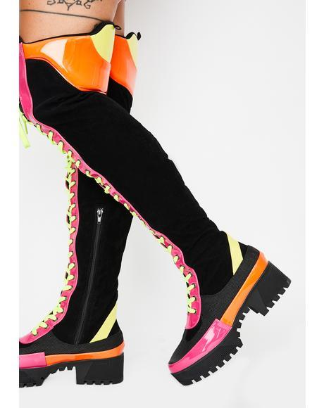 Causin' Mischief Combat Boots