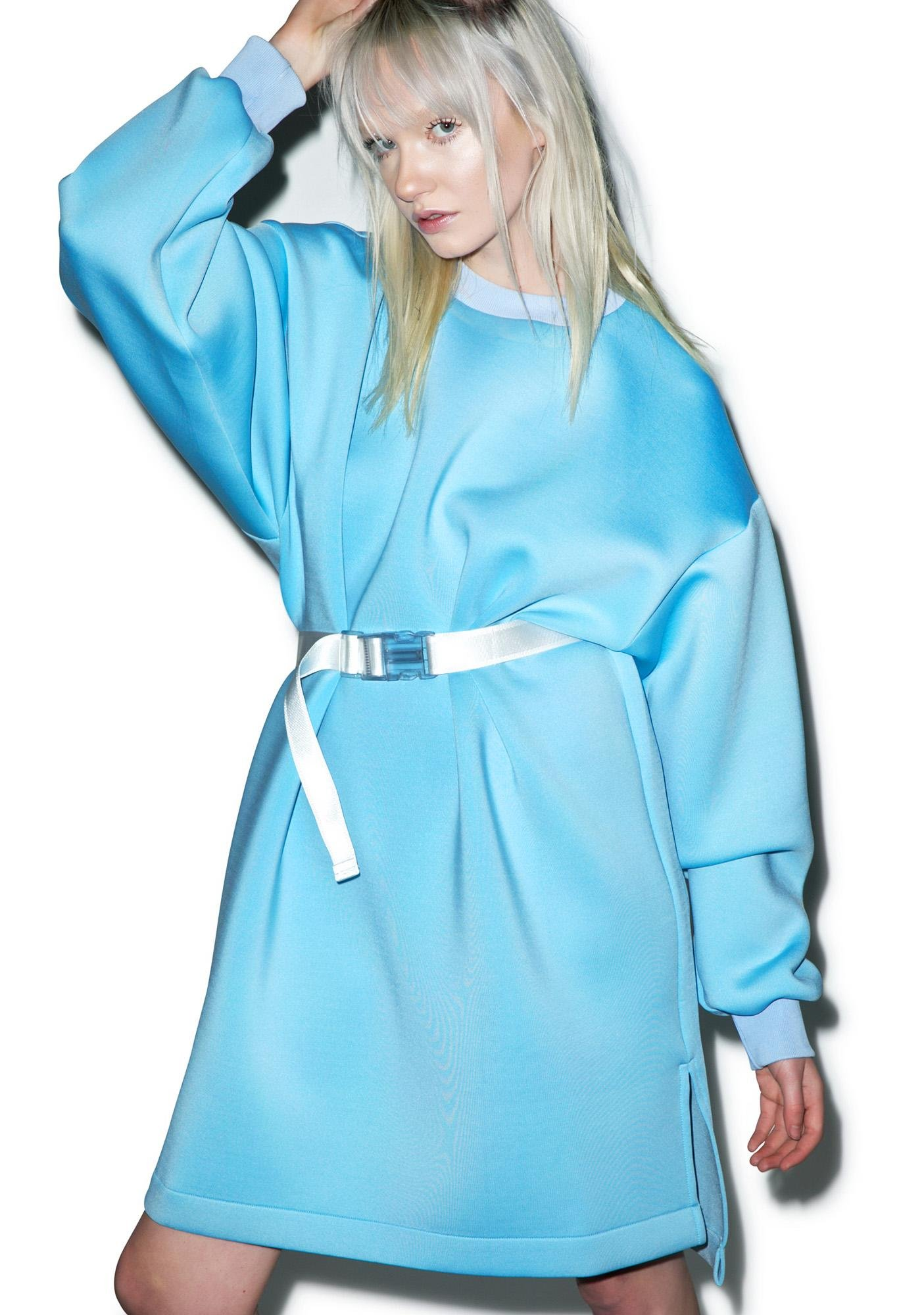 Somewhere Nowhere Blue Sky Neoprene Dress