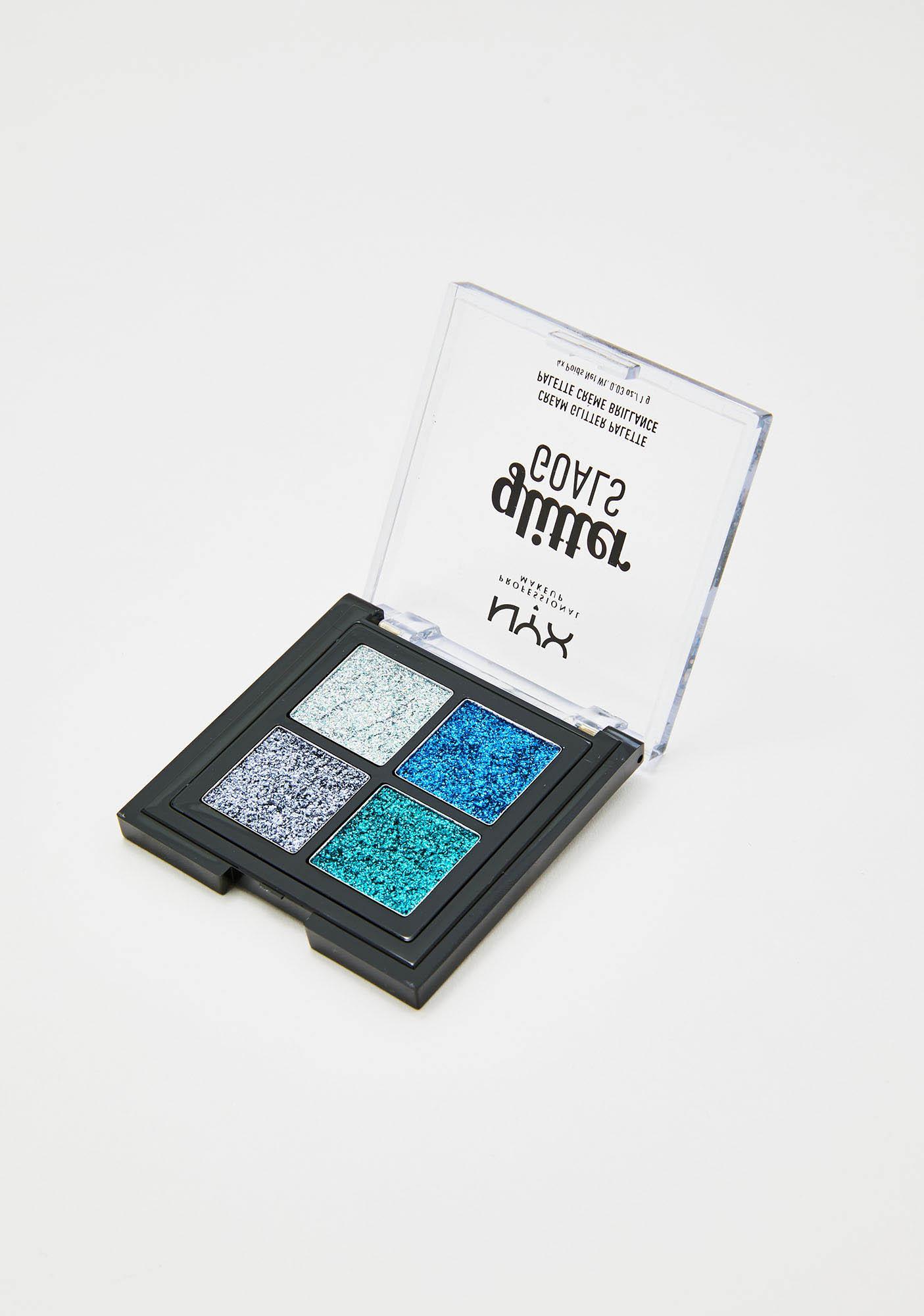 NYX Professional Makeup Glacier Glitter Goals Cream Quad Palette