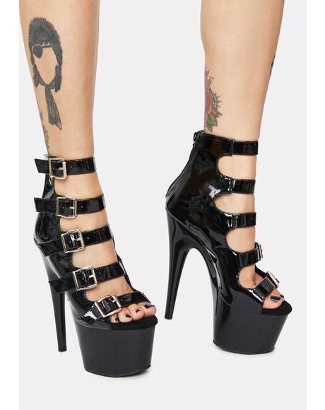 Better Bow Down Patent Buckle Heels