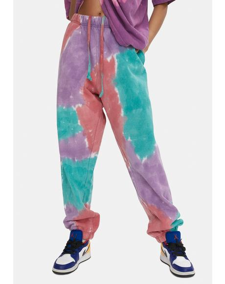 Purple Nitro Sustainable Tie Dye Sweatpants