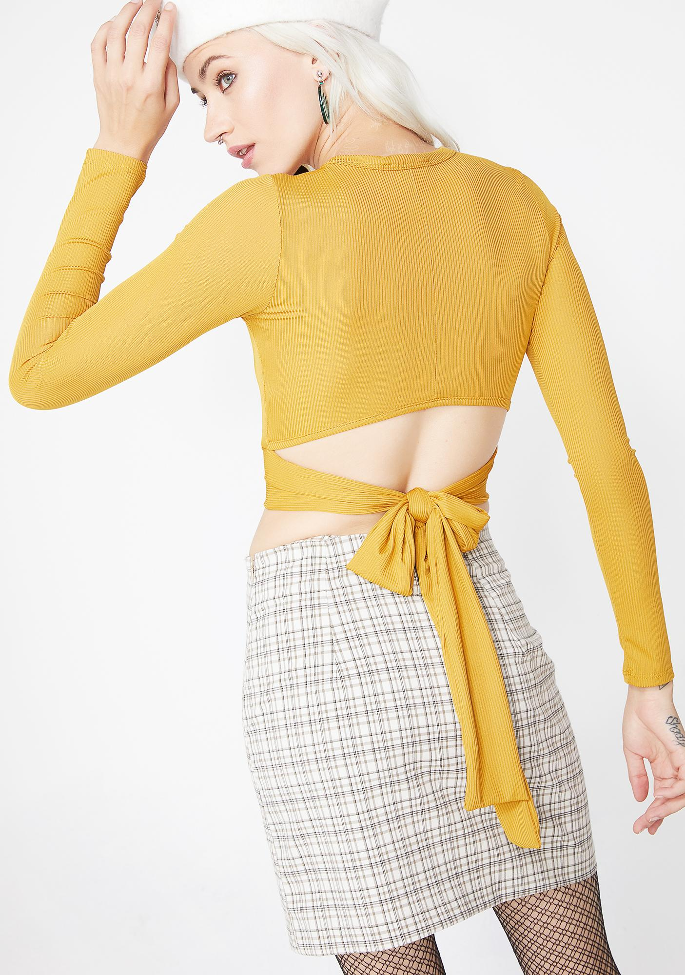 Tied Down Wrap Top
