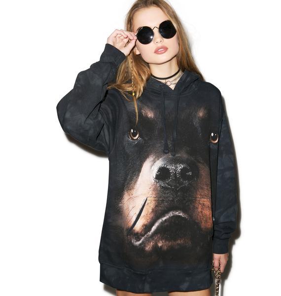 Rottweiler Face Hoodie