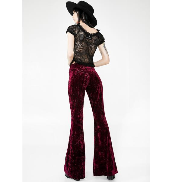 Killstar Wisteria Bell Bottoms