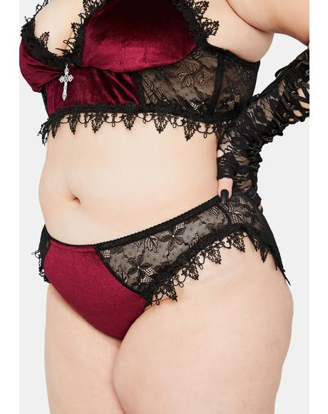 Crimson Dark Morphine Eyes Velvet Panties