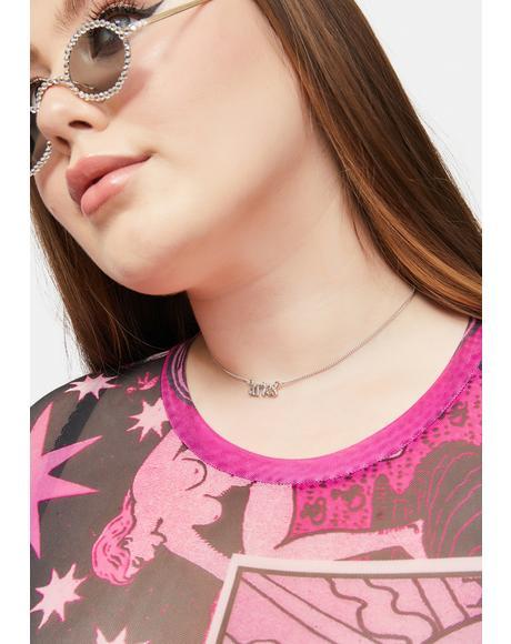 Aries Spirit Letter Pendant Necklace