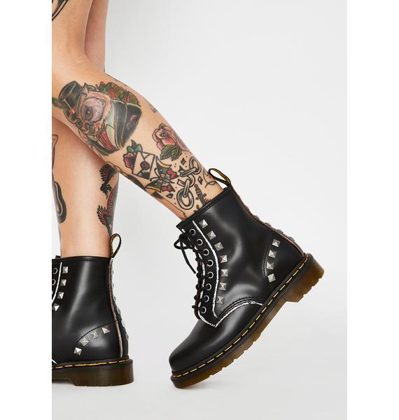 Dr. Martens 1460 Stud Ankle Boots