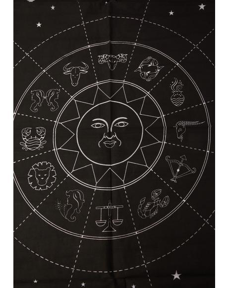 Celestial Objects Astrology Altar Cloth