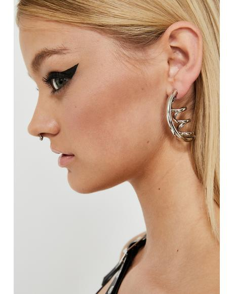 Party's Here Corkscrew Earrings