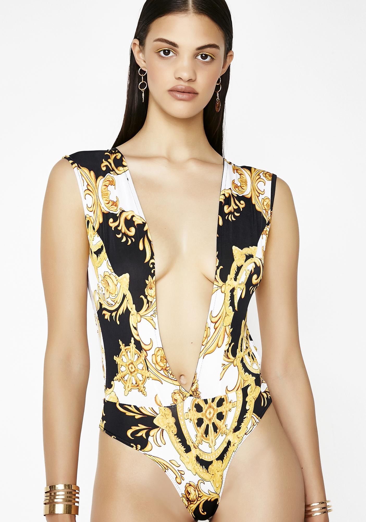 Xpensive Taste Printed Bodysuit