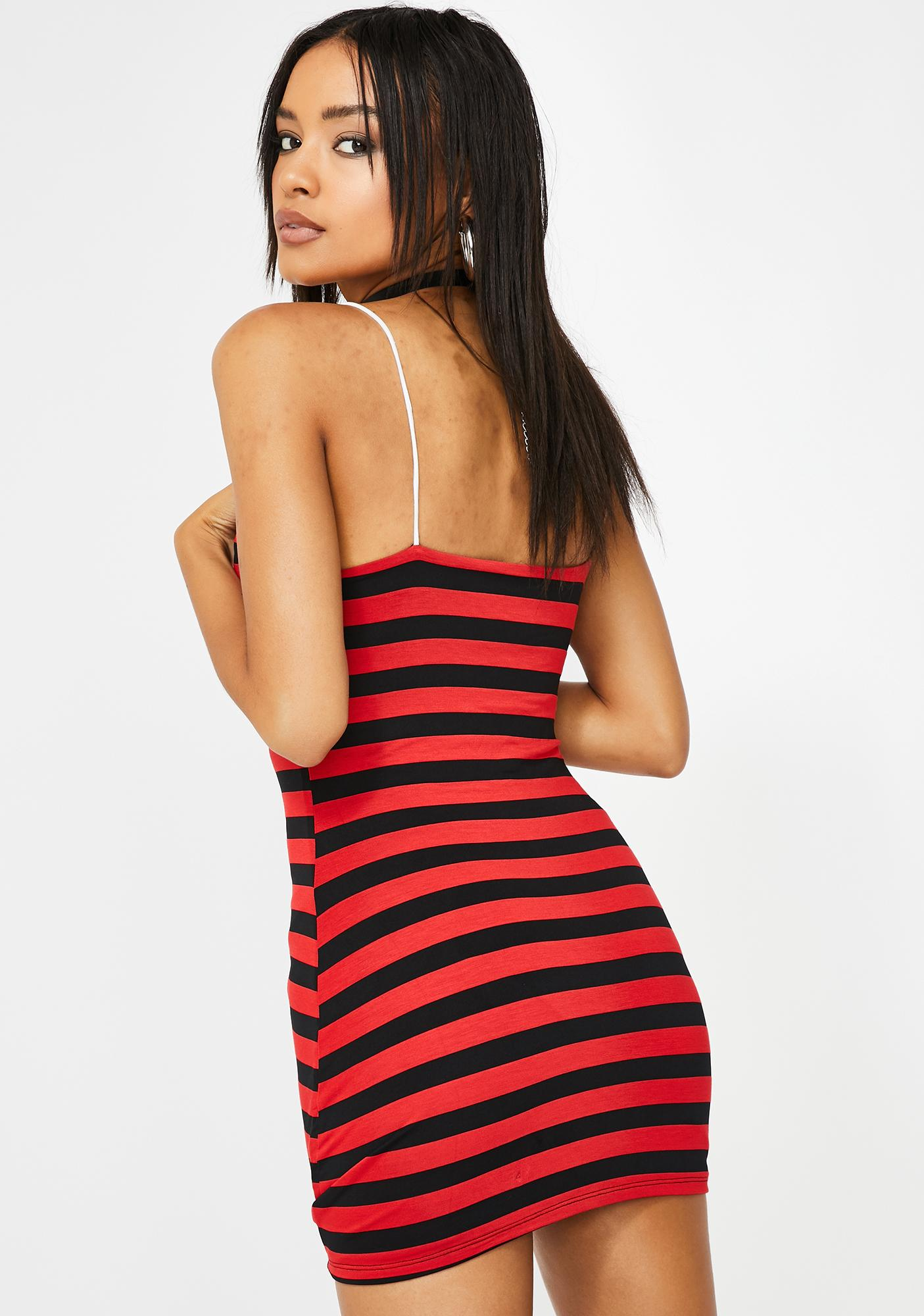 O Mighty Stephen King Striped Mini Dress