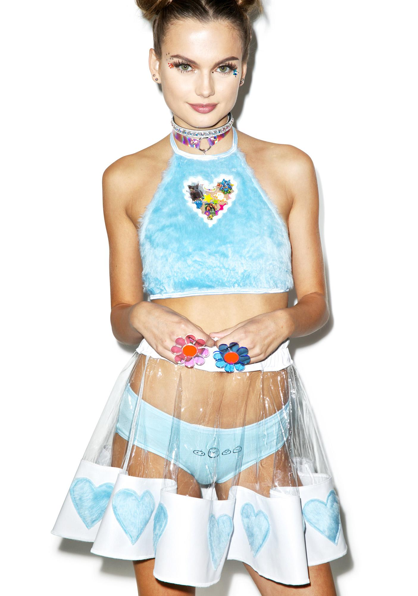 Indyanna Courtney Skies PVC Heart Skirt