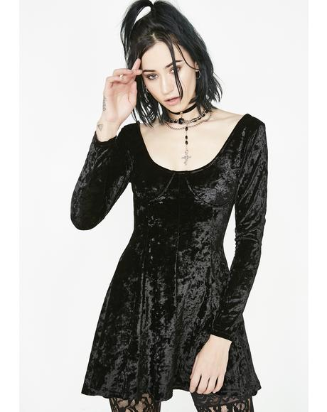 Midnight Misfit Magic Velvet Dress