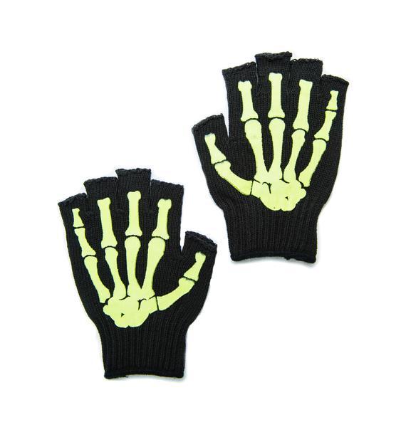 Wanna Bone Fingerless Gloves